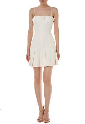 AMUR Joy Linen-Blend Mini Dress