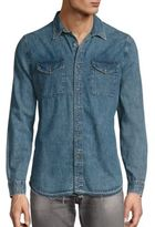 AG Jeans Benning Frayed Hem Shirt