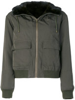 Army Yves Salomon fitted zipped jacket