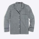 J.Crew Factory Cotton poplin long-sleeve sleep shirt