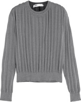 Comme des Garcons Pleated Knitted Sweater - Gray