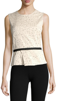 Narciso Rodriguez Cotton Jacquard Belted Top