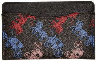 Coach 1941 Black Horse and Carriage Small Card Holder