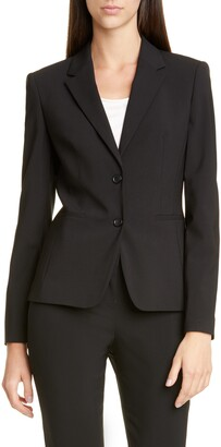 HUGO BOSS Jonina Stretch Wool Suit Jacket