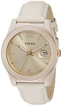 Fossil Women's CE1089 Perfect Boyfriend Three-Hand Date Leather Watch - Toasted Almond