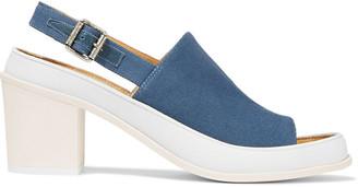 MM6 MAISON MARGIELA Leather-trimmed Canvas Slingback Sandals