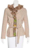 Blumarine Fur-Trimmed Virgin Wool Jacket