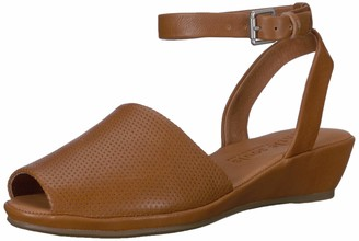 Gentle Souls Women's Lily Ankle Wrap 2 Low Wedge Sandal
