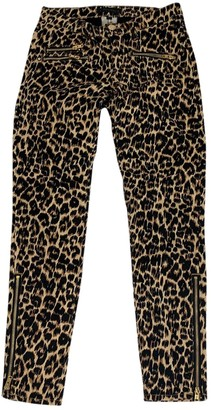 Juicy Couture Camel Cotton Trousers for Women