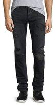 Hudson Sartor Skinny Jeans w/ Camo Backing