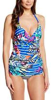 Moontide Women's Eden Wrap Tankini Triangle Floral Bikini Top