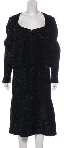 Chanel 2016 Metallic Tweed Dress Set