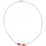 Isabel Marant Red Metal Necklace