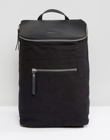 SANDQVIST Mika Cotton Canvas & Leather Backpack