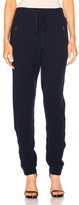 Baja East Cashmere Fisherman Rib Pants in Blue.
