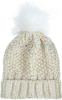 Accessorize Foiled Faux Fur Pom Beanie Hat