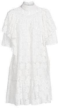Etoile Isabel Marant Women's Venus Ruffled Lace Shift Dress