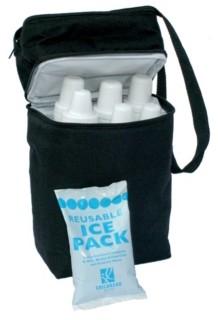 J L Childress 6 Bottle Cooler, Black