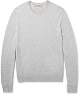 Burberry - Elbow-patch Cashmere And Cotton-blend Sweater