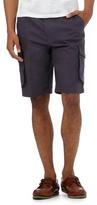 Maine New England Dark Blue Textured Cargo Shorts