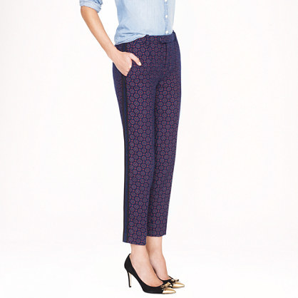J.Crew Collection printed tweed tuxedo pant