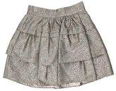 Diane von Furstenberg Metallic Mini Skirt