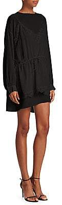 IRO Women's Hassel Silk Lace High-Low Dress