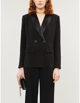 BA&SH Nidia double-breasted crepe blazer