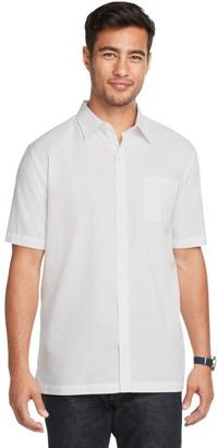Van Heusen Men's Air Textured Solid Slim Fit Short-Sleeve Shirt