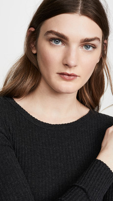 Enza Costa Cashmere Ribbed Crew