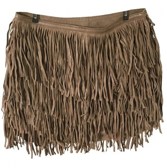 Isabel Marant Camel Suede Skirt for Women