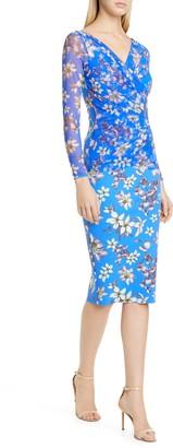 Chiara Boni La Petite Shana Long Sleeve Cocktail Dress
