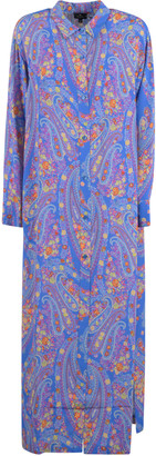 Etro Paisley Print Long Shirt Dress