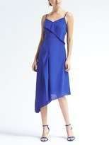 Banana Republic Strappy Asymmetrical Foldover Dress