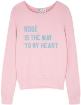Wildfox Couture Rose Is The Way Baggy Beach jersey sweatshirt