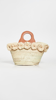 Poolside Beach Tote with Raffia Flowers