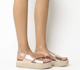 Inuovo Cross Strap Wedges Blush
