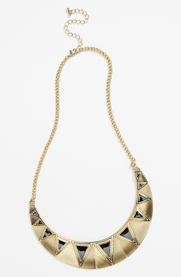 Stephan & Co Geometric Bib Necklace
