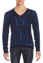 Versace Textured V-Neck Sweater