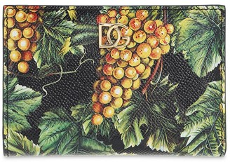 Dolce & Gabbana Printed Dauphine Leather Wallet