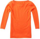 Neiman Marcus Cashmere Bateau-Neck Sweater, Mercury