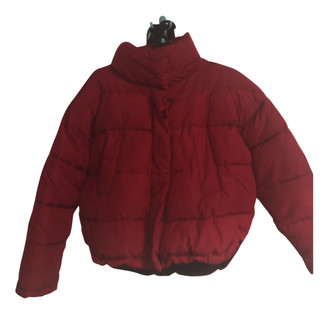 Urban Outfitters Red Polyester Coats
