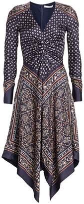 Jonathan Simkhai Scarf Print Dress