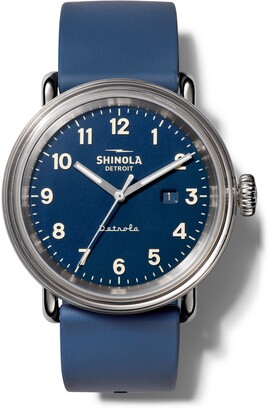 Shinola Detrola Silicone Strap Watch, 43mm