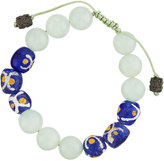Armenta Prehnite & African Glass Beaded Bracelet