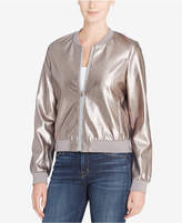 Catherine Malandrino Jimmie Metallic Faux-Leather Bomber Jacket