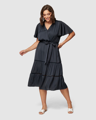 Forever New Curve - Women's Midi Dresses - Anya Curve Trim Detail Midi Dress - Size One Size, 16 at The Iconic