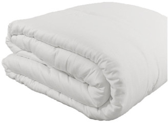 Natural Comfort Deluxe 100% Natural Green tussah Silk Filled White Summer Comforter, Q