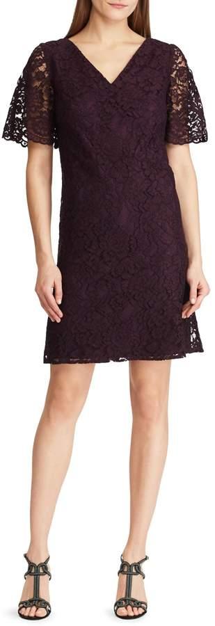 Chaps Lace Shift Dress