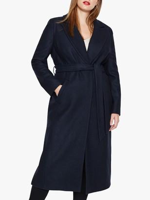 Studio 8 Fergie Faux Fur Collar Coat, Navy